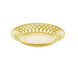 الطبق المستدير المطلي بالذهب